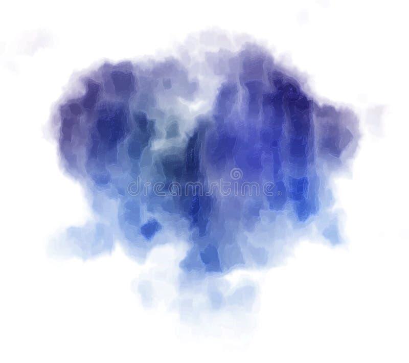 Fondo azul marino extraño de la pintura del bstract del  de Ð libre illustration