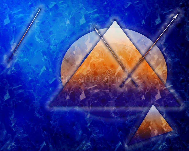 Fondo azul marino hermoso, profundo con las estrellas y reloj ilustración del vector