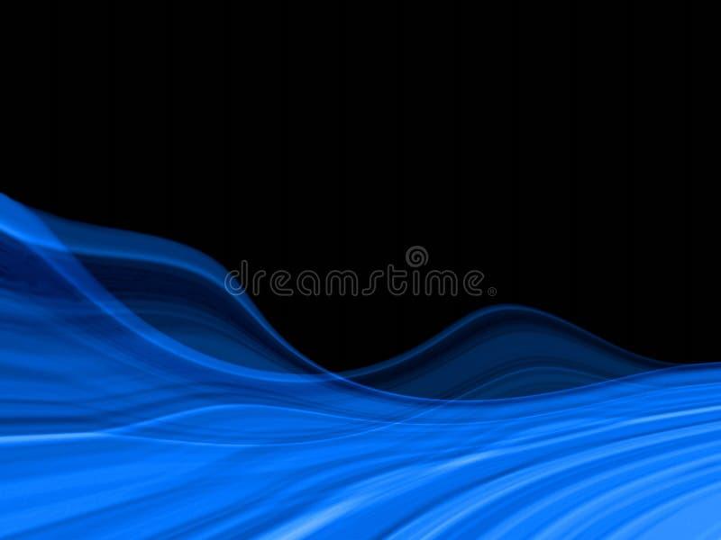 Fondo azul marino ondulado libre illustration