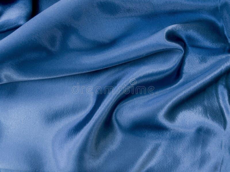 Fondo azul natural de la textura de la tela del satén imagen de archivo libre de regalías