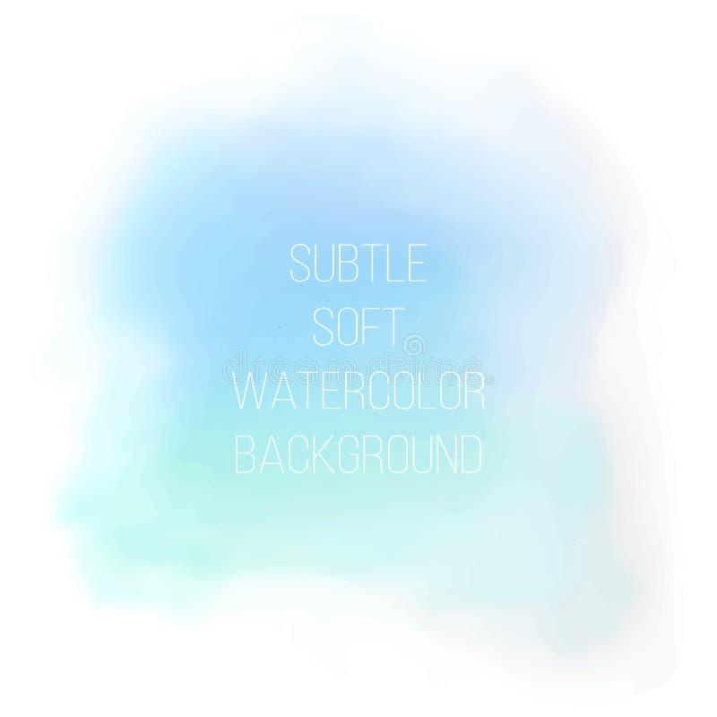 Fondo azul pintado de la acuarela del mar stock de ilustración