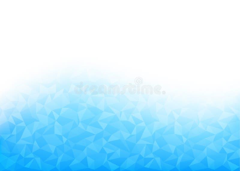 Fondo azul poligonal bajo geométrico abstracto del vector ilustración del vector