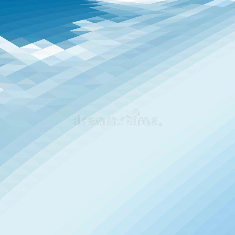 Fondo azul poligonal del extracto del vector cielo triangular azul del fondo stock de ilustración