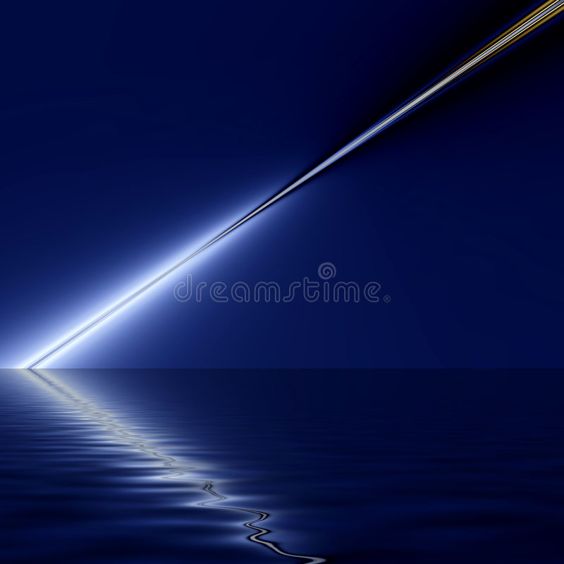 Fondo azul reflejado del rayo ligero stock de ilustración