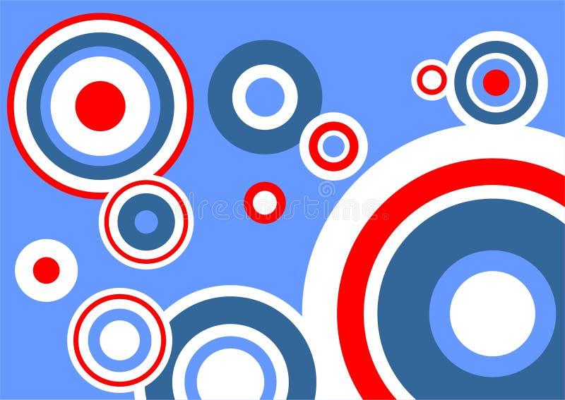 fondo Azul-rojo libre illustration