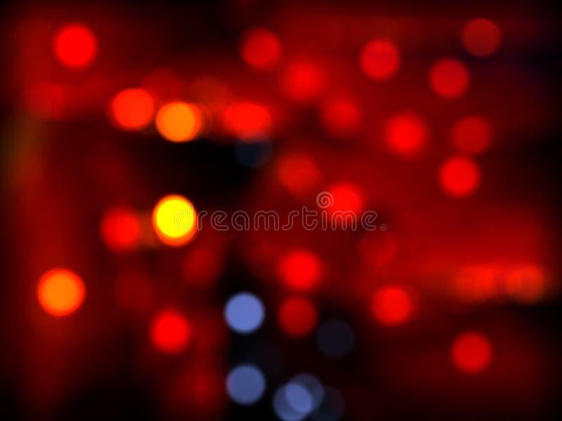 Fondo azul rojo del bokeh del humor de Christmass fotos de archivo libres de regalías