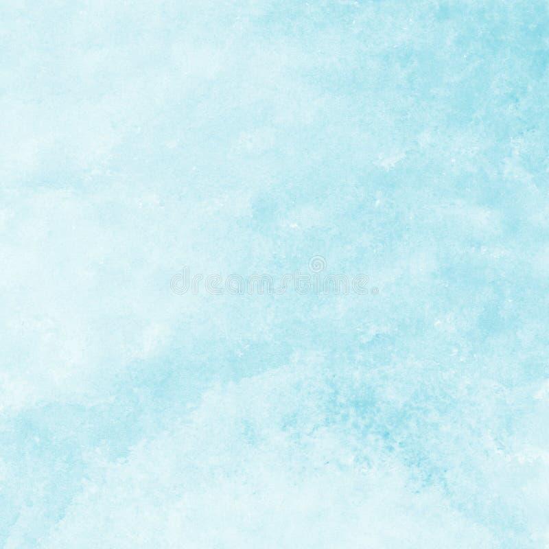 Fondo azul suave de la textura de la acuarela, pintado a mano stock de ilustración