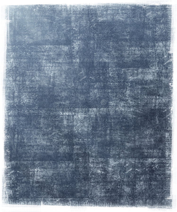 Fondo azul sucio con el marco de Grunge stock de ilustración