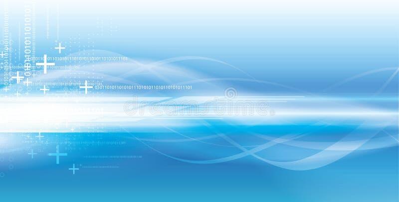 Fondo azul vivo tecnológico stock de ilustración