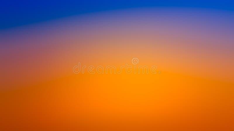 Fondo azul y anaranjado de la pendiente abstracta de la falta de definición fotos de archivo libres de regalías