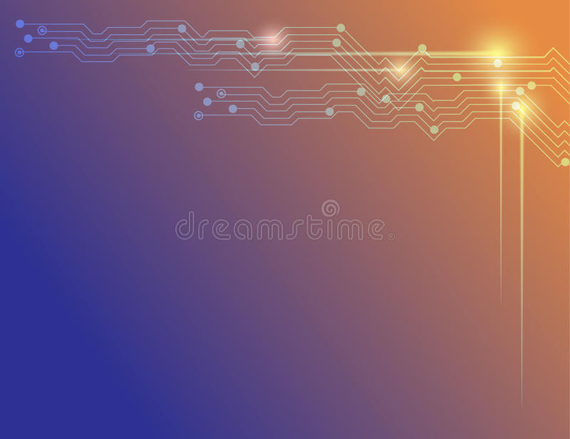 Fondo azul y anaranjado de la tecnología abstracta del vector ilustración del vector