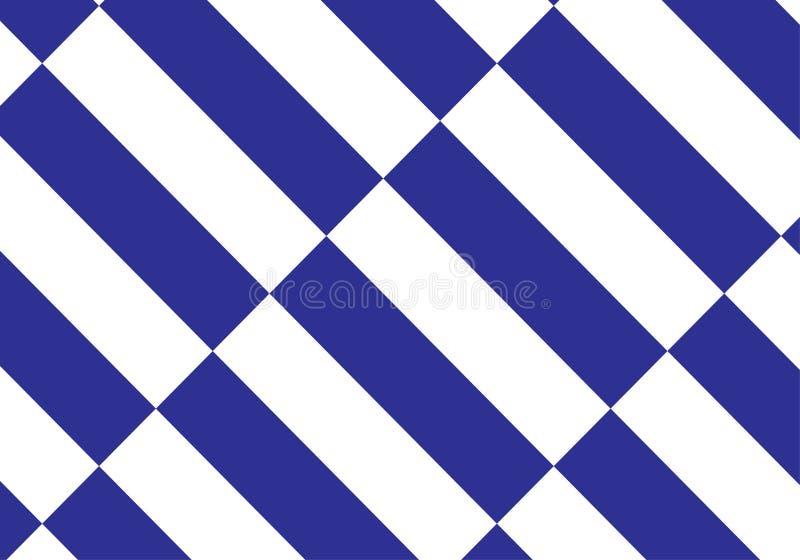 Fondo azul y blanco del vector de la tela escocesa Ilustración del vector stock de ilustración