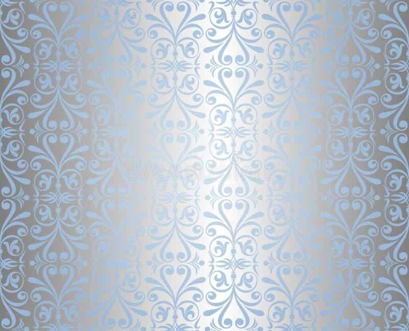 Fondo azul y de plata del día de fiesta libre illustration