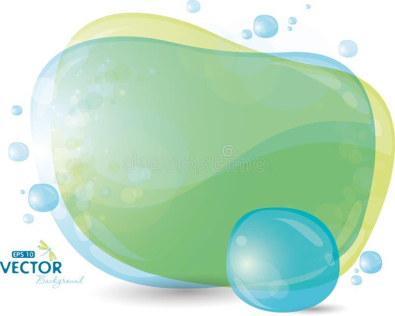 Fondo azul y verde libre illustration
