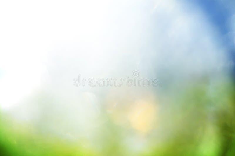 Fondo azul y verde imagen de archivo libre de regalías