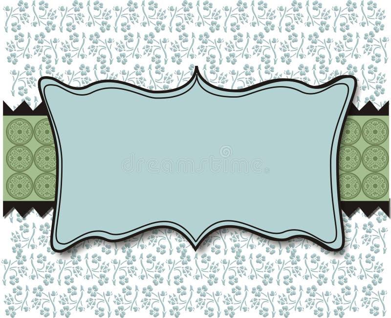Fondo azul y verde en colores pastel ilustración del vector