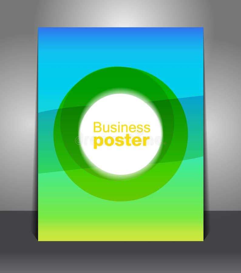 Fondo azulverde abstracto de la plantilla del cartel ilustración del vector