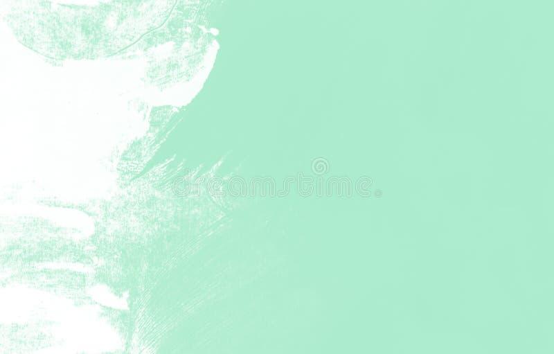 Fondo azulverde blanco de los movimientos de la brocha de la menta imagen de archivo