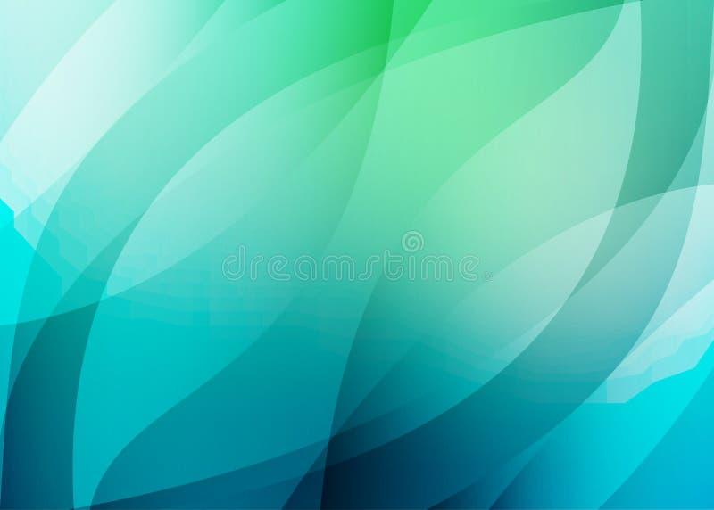 Fondo azulverde en colores frescos libre illustration