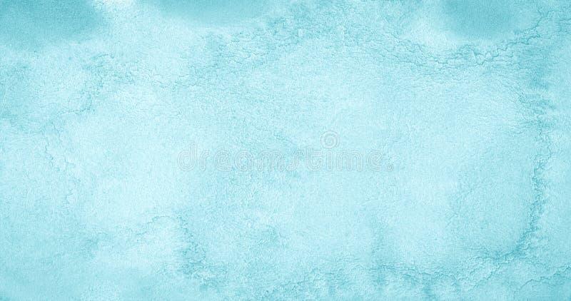 Fondo azzurrato blu dell'acquerello con i divorzi naturali bizzarri e le bande Struttura astratta con lo spazio della copia royalty illustrazione gratis
