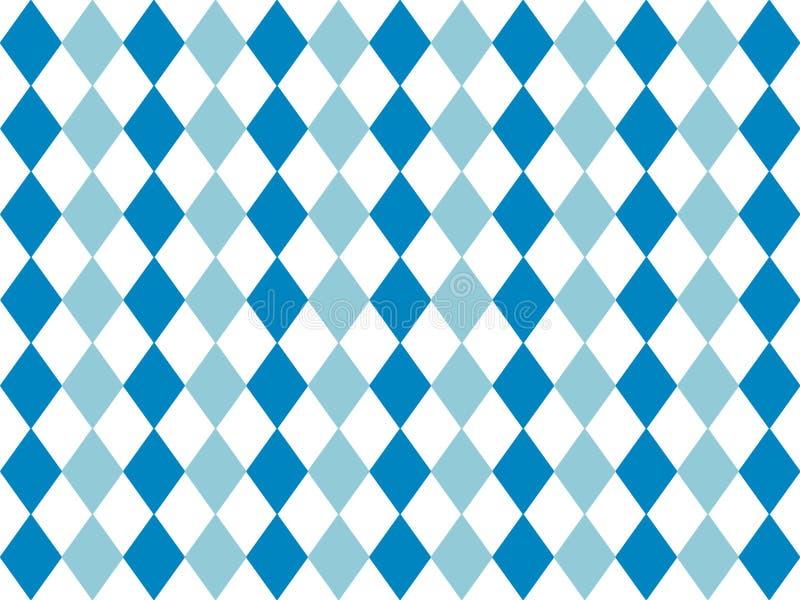 Fondo bávaro del modelo de la bandera Diseño del contexto para Oktoberfest stock de ilustración