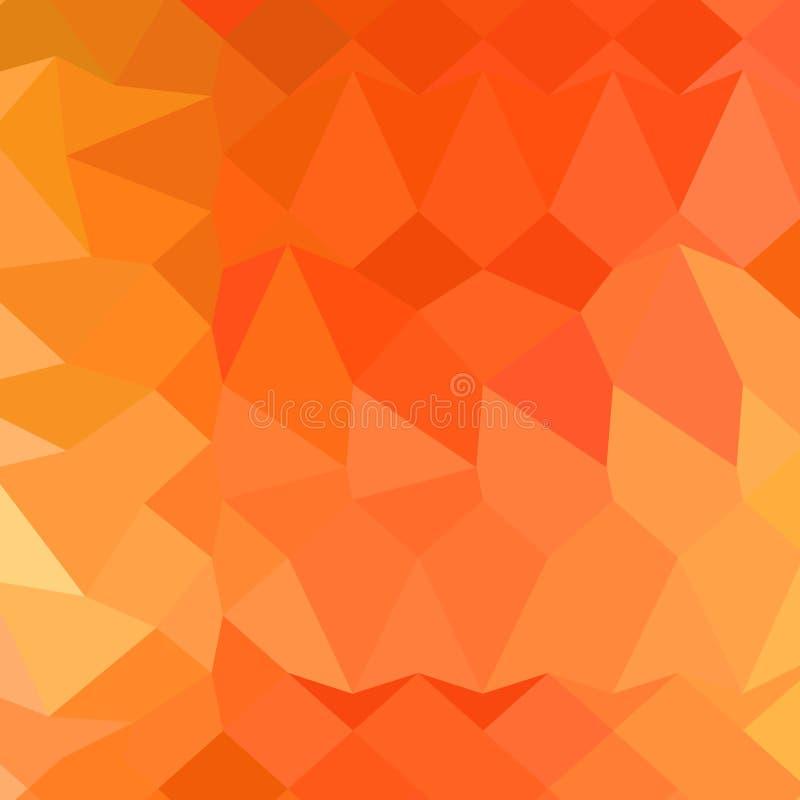 Fondo bajo abstracto anaranjado español del polígono stock de ilustración