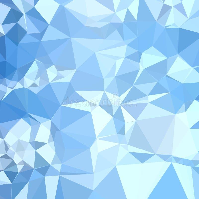 Fondo bajo abstracto azul del polígono de la ventisca stock de ilustración