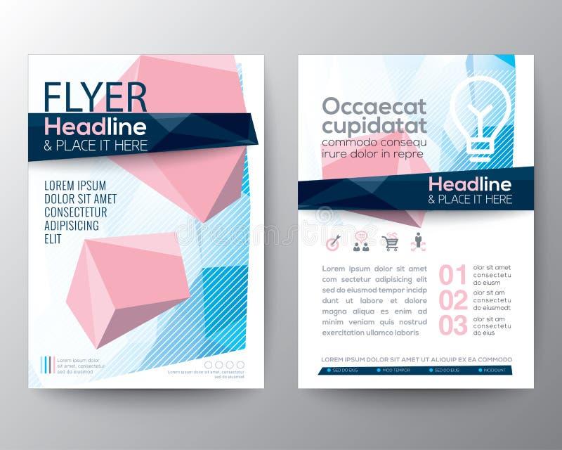 Fondo bajo abstracto del polígono para el diseño del aviador del folleto del cartel ilustración del vector