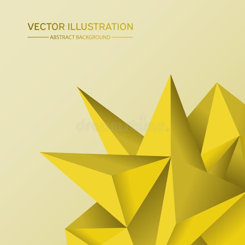 fondo bajo de la geometría del polígono 3D Forma geométrica poligonal abstracta ilustración del vector