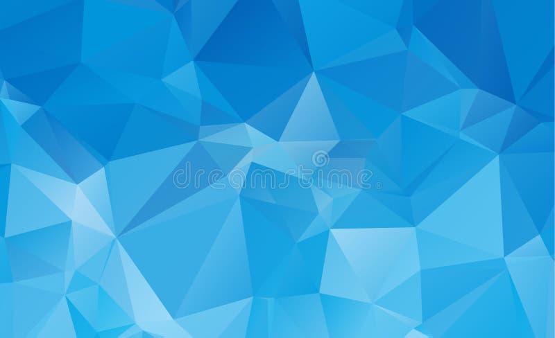 Fondo bajo del modelo del triángulo del polígono ilustración del vector