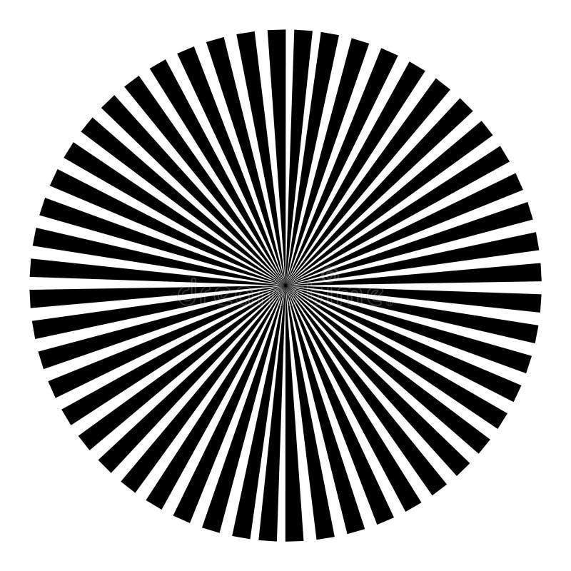 Fondo bajo la forma de bola negra de rayos ilustración del vector