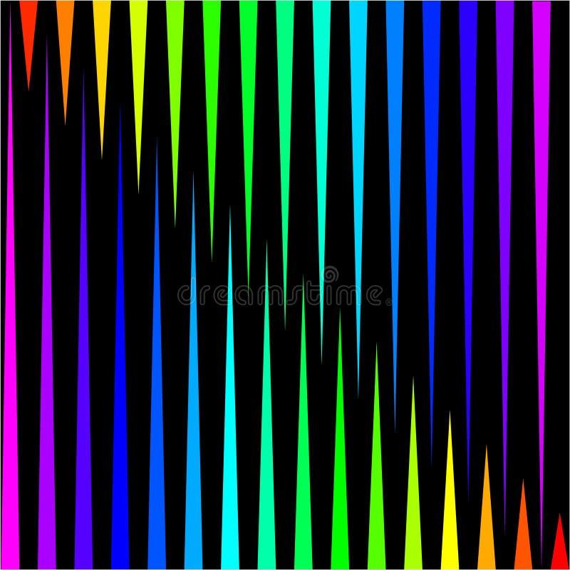 Fondo bajo la forma de rayas verticales coloreadas en un negro libre illustration