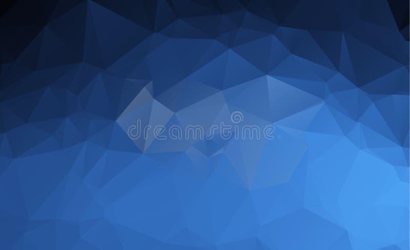 Fondo bajo poligonal ligero azul del modelo del triángulo del polígono ilustración del vector