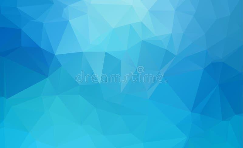 Fondo bajo poligonal ligero azul del modelo del triángulo del polígono stock de ilustración