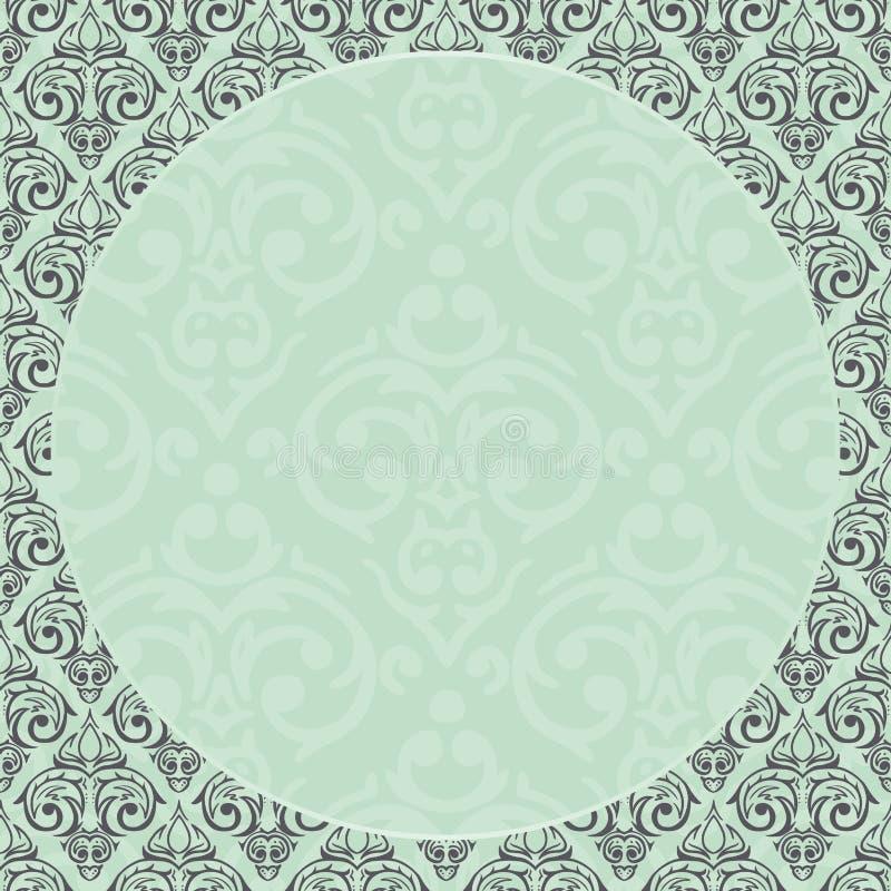 Fondo barroco inconsútil del damasco ilustración del vector
