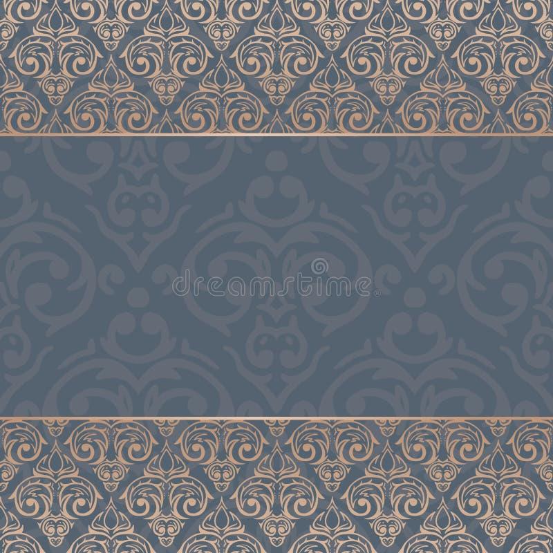 Fondo barroco inconsútil del lujo del damasco ilustración del vector