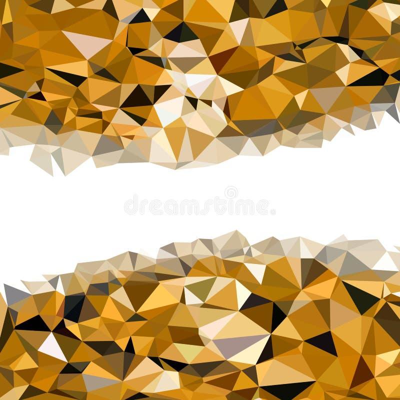 Fondo basso astratto colorato dorato di vettore del poligono illustrazione vettoriale