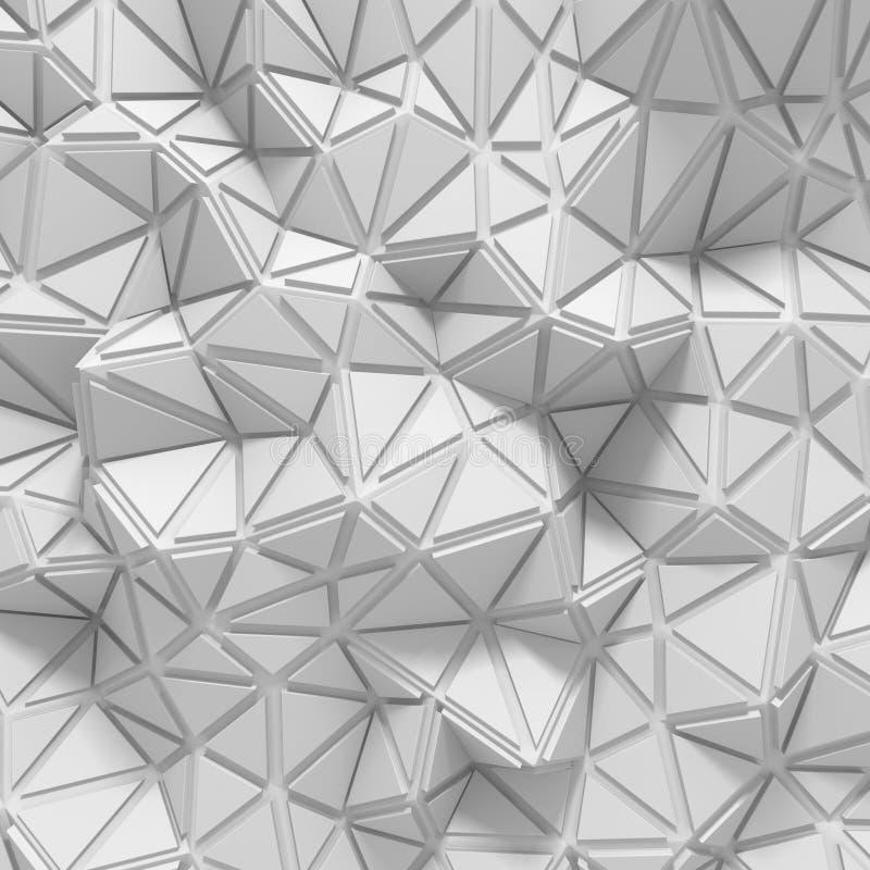 Fondo basso del triangolo bianco architettonico astratto poli illustrazione vettoriale