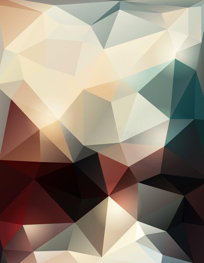 Fondo basso poligonale astratto di vettore poli illustrazione di stock