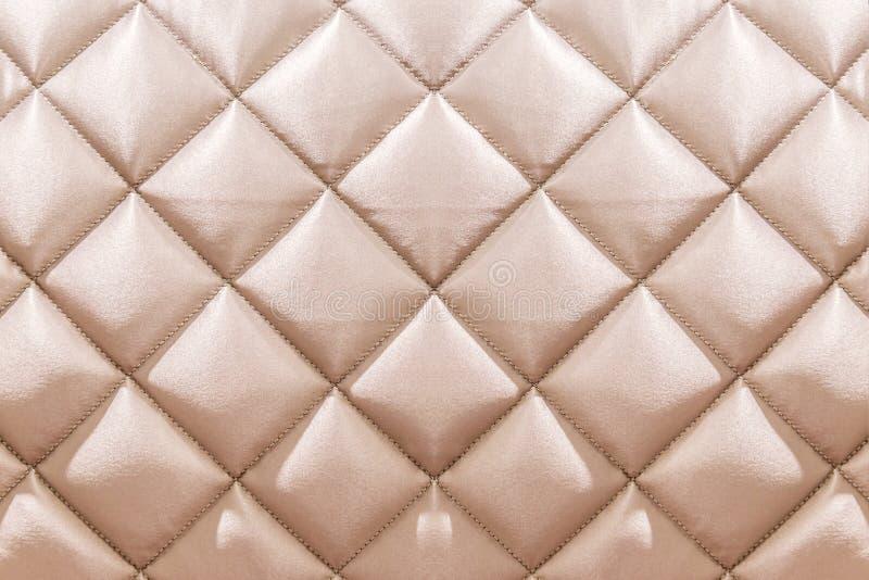 Fondo beige blanco de la materia textil del capitone del terciopelo, Chesterfie retro stock de ilustración