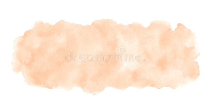 Fondo beige color de rosa natural de la bandera del rect?ngulo de la acuarela imagen de archivo libre de regalías