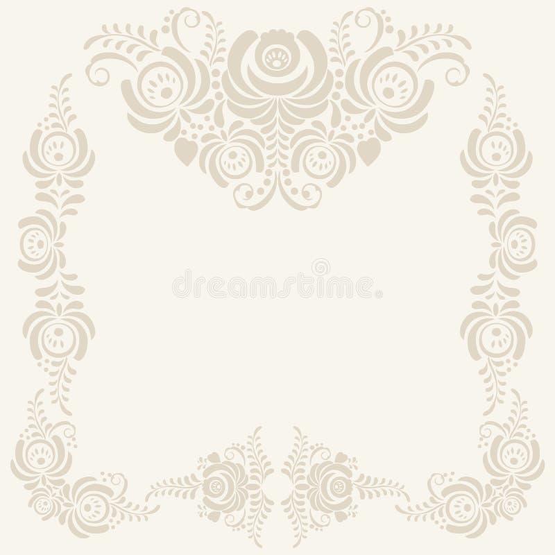 Fondo beige del vector del estampado de flores libre illustration