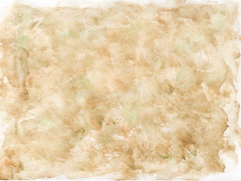 Fondo beige dell'acquerello Disegnato a mano illustrazione di stock