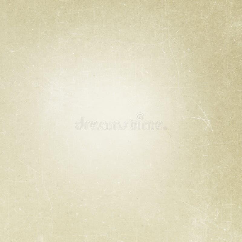 Fondo beige di lerciume, vecchia struttura di carta, polvere, graffio, vinta fotografie stock libere da diritti