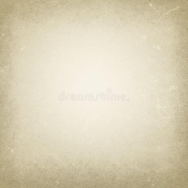 Fondo beige di lerciume, vecchia struttura di carta, punti, strisce, grungy, d'annata, retro, in bianco, struttura illustrazione vettoriale