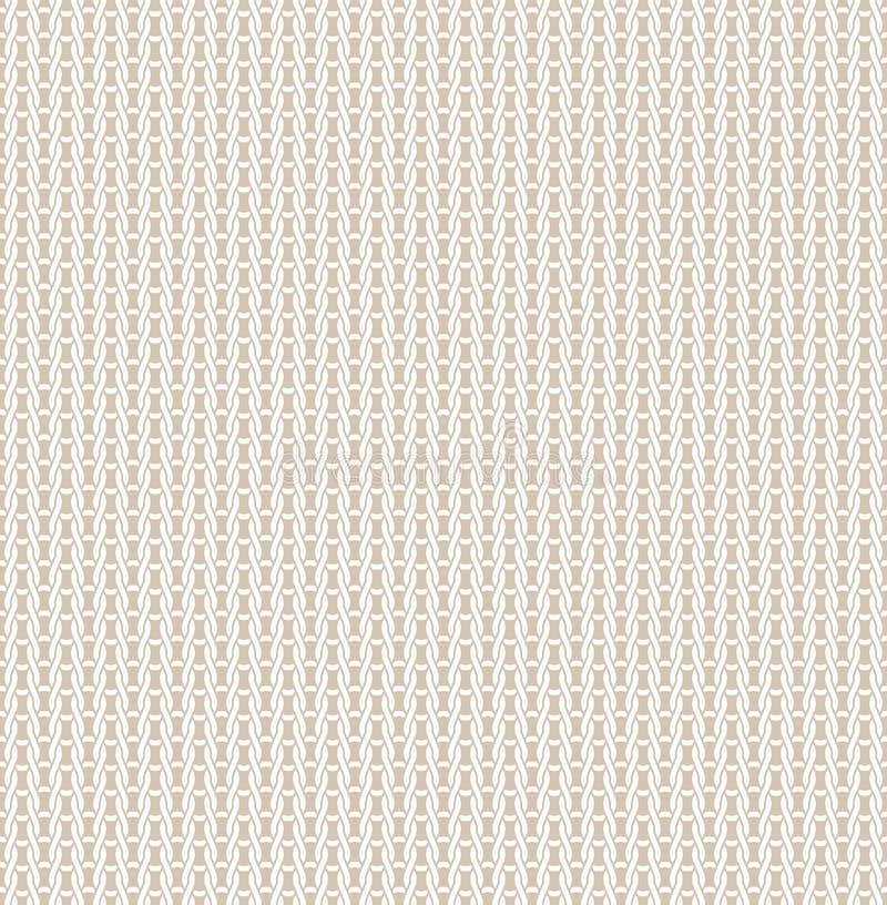 Fondo beige hecho punto de la textura de la luz inconsútil del modelo de la tela que hace punto, contexto brillante, materia text libre illustration