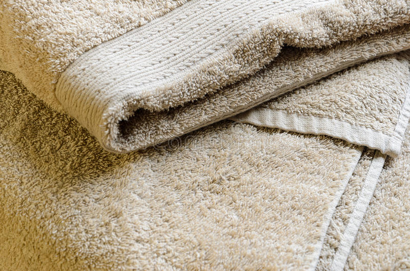 Fondo beige rizado de la toalla fotos de archivo libres de regalías