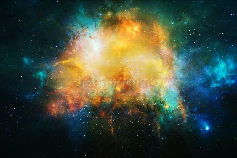 Fondo bello d'ardore artistico della galassia della nebulosa dell'estratto illustrazione di stock