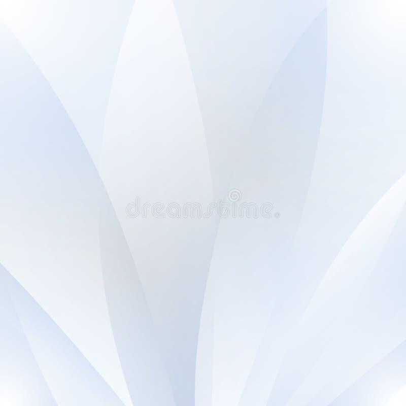Fondo bianco astratto con le onde e le ombre illustrazione vettoriale