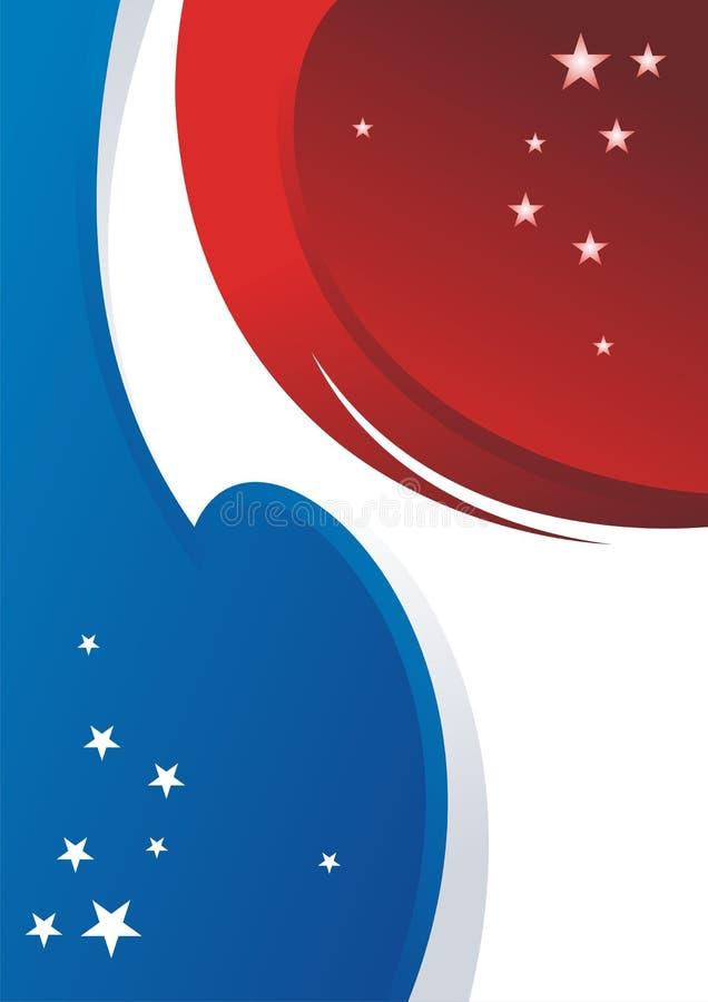 Fondo in bianco astratto con stile della bandiera americana royalty illustrazione gratis